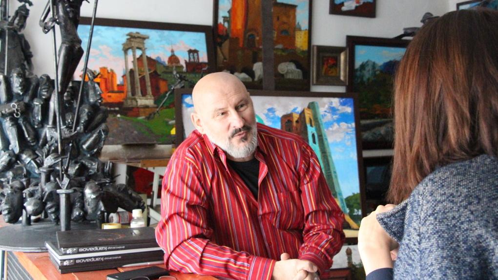 Скульптор Александр Капралов: «Я бы сейчас срезал «Дон Кихота» и увёз его в мастерскую»