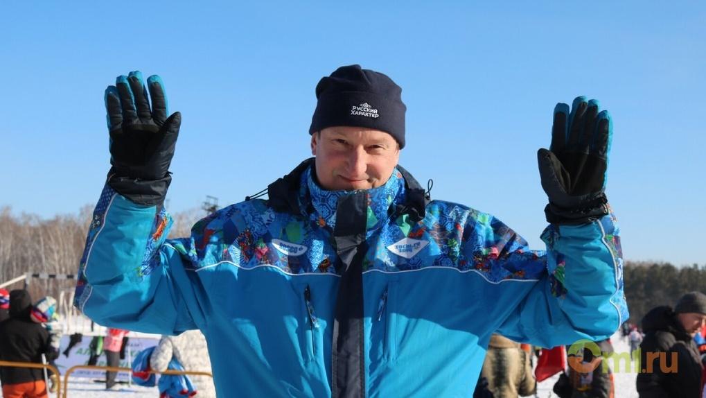 Дмитрий Крикорьянц встретил свое 52-летие на «Лыжне России – 2018»