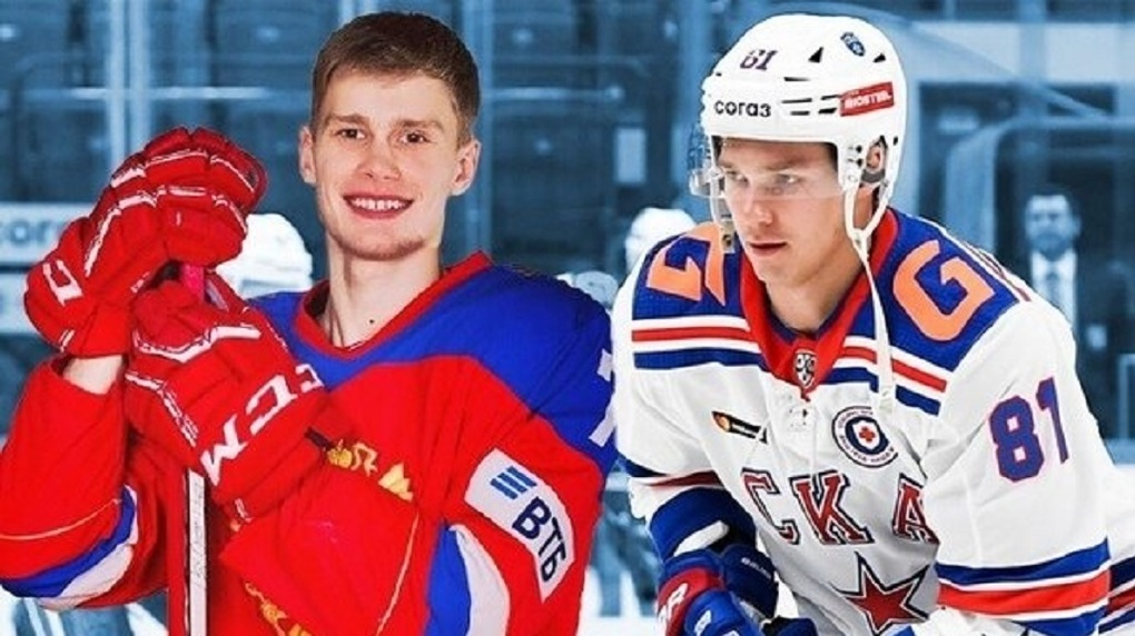 Нападающие СКА Спиридонов и Каменев перешли в новосибирский хоккейный клуб