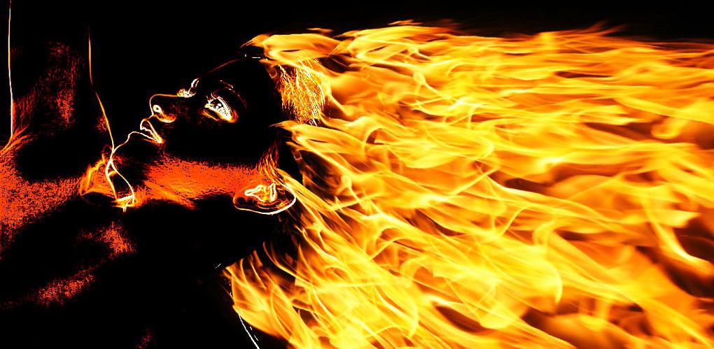 картинки горящих волос парк