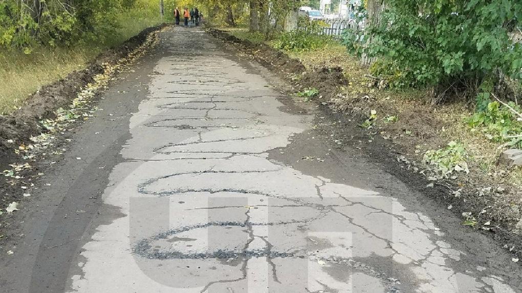 Омичи возмущены халтурным ремонтом тротуара на проспекте Мира