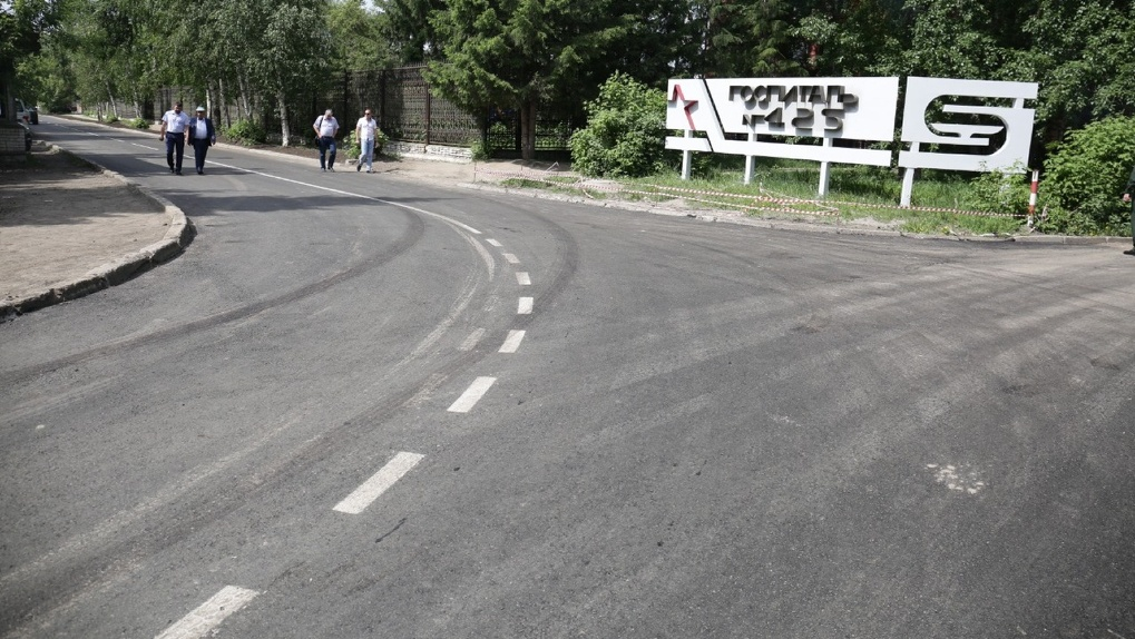 В Новосибирске построили дорогу к новому госпиталю за четверо суток