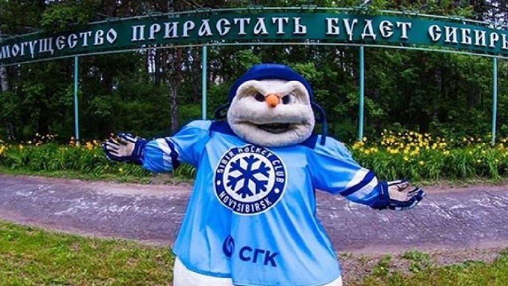Злой снеговик хоккейной команды «Сибирь» стал звездой Instagram