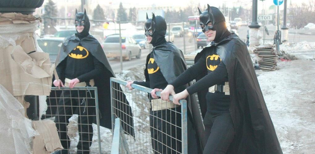 Банда «Бэтменов», которую заметили омичи, оказалась акцией к премьере сериала