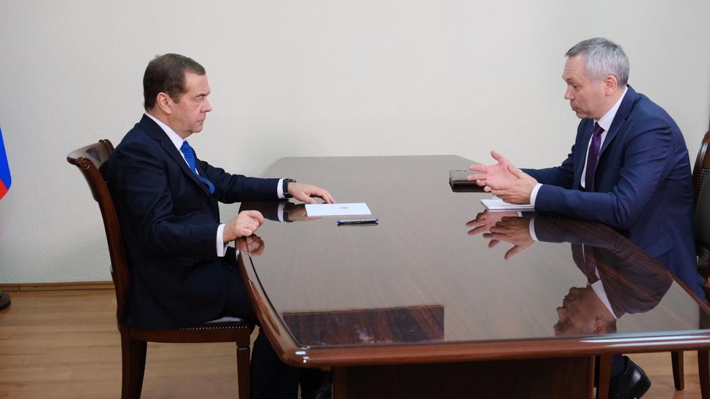 Губернатор Новосибирской области рассказал Дмитрию Медведеву о реализации нацпроектов