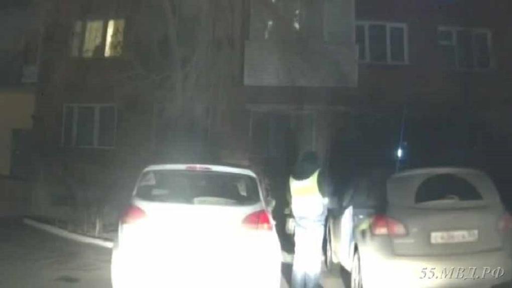 Ночью в Омске полицейские задержали буйную автоледи