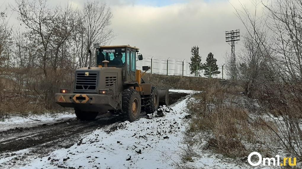 Из Парка Победы в Омске вырезали три гектара земли для строительства новой дороги