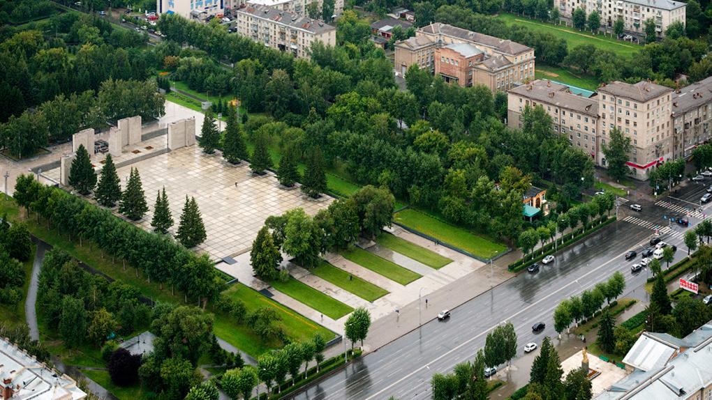 В новосибирском сквере Славы появится современная детская площадка