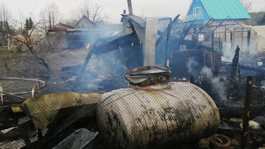 Ландшафтный пожар уничтожил 50 объектов недвижимости в Новосибирской области