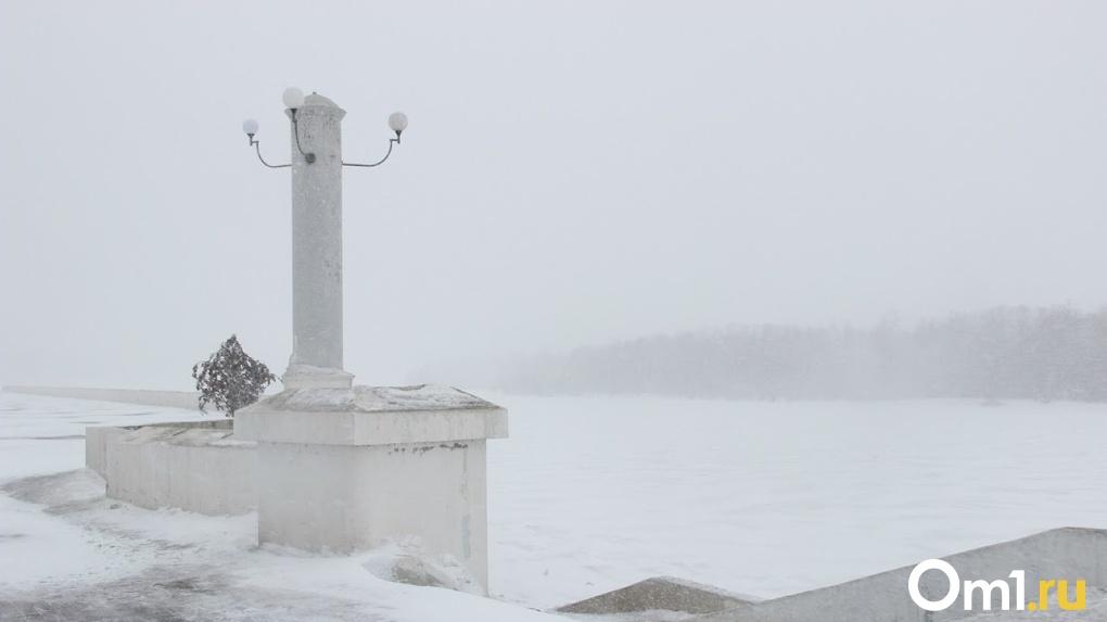 В Омске выпало рекордное количество снега за 120 лет