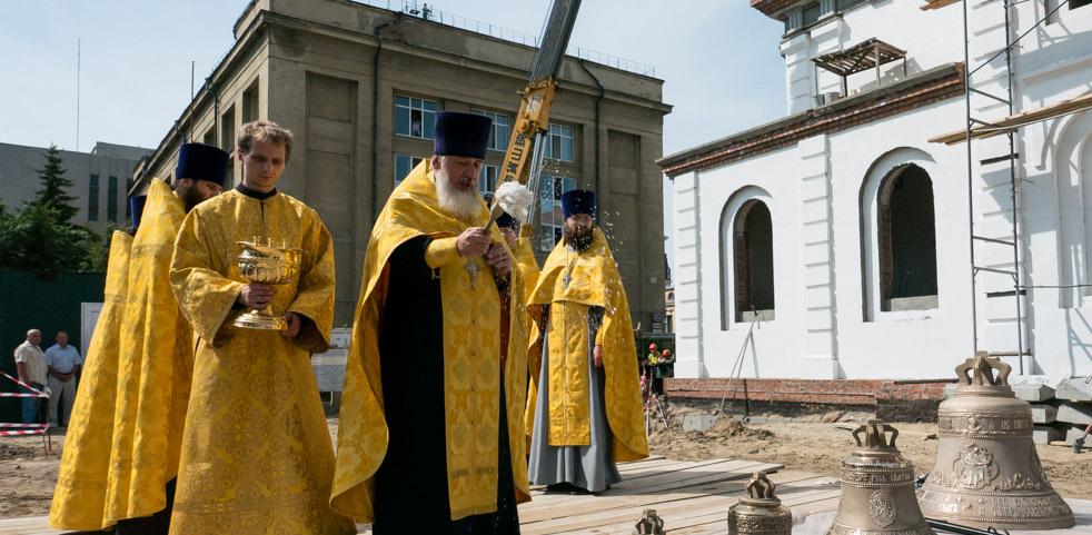 Колокола омского Воскресенского собора уже освятили