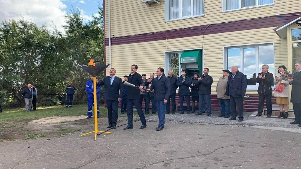 В село под Омском провели газ раньше, чем планировалось