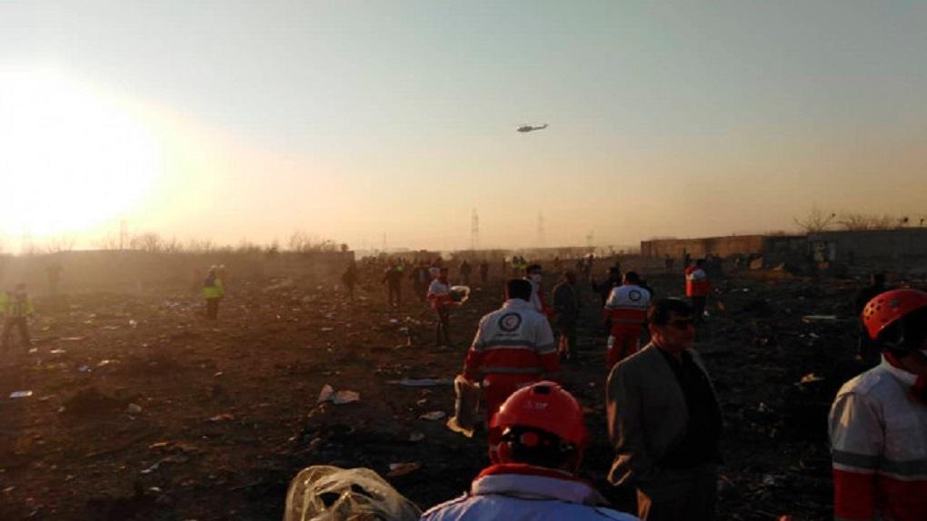 В Тегеране разбился украинский самолет. Возможно, его случайно сбили ракетой