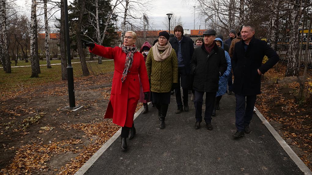 В Новосибирске благоустроили сквер «25 лет Победы в Великой Отечественной войне»