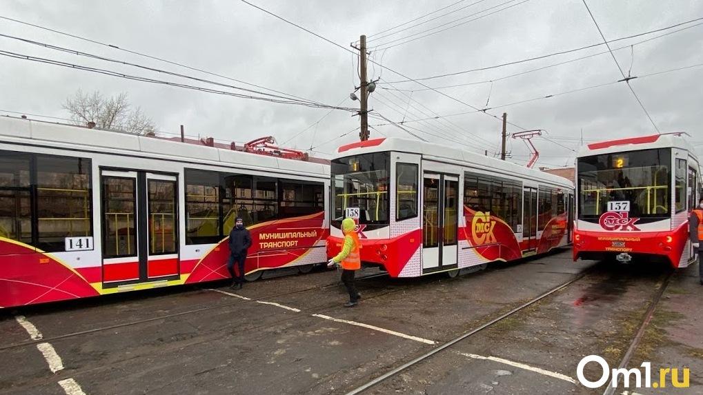 В Омск поступили все 24 новых вагона трамвая «Спектр»
