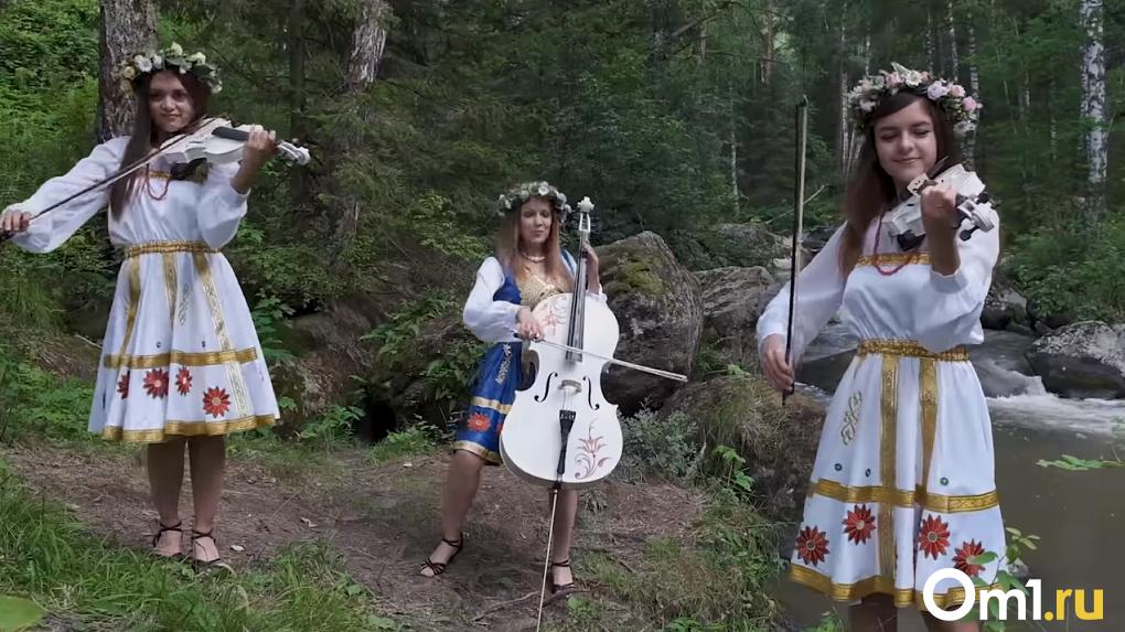 «Пропахли лесом и огнём»: новосибирские скрипачки из группы Silenzium сняли «опасный клип»