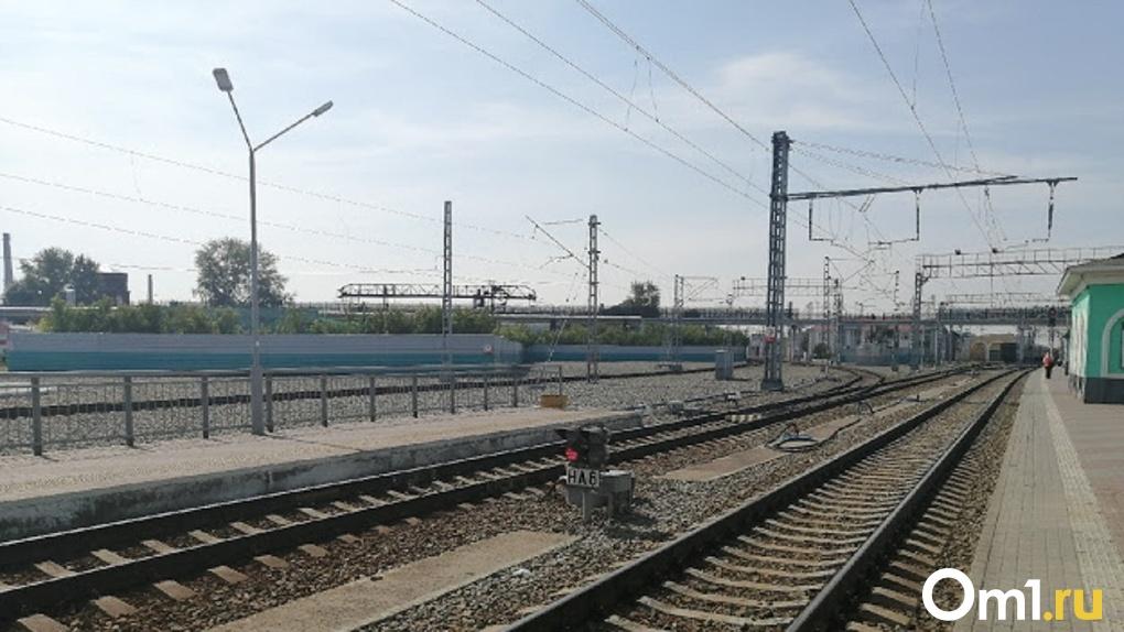 Омич обвинил работников железной дороги в том, что они кидают мешки через забор
