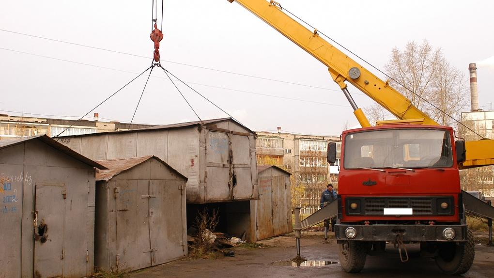 Нелегальным гаражам придется переехать из центра Омска