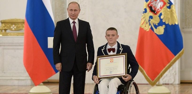 Омские паралимпийцы попали на прием к президенту Путину